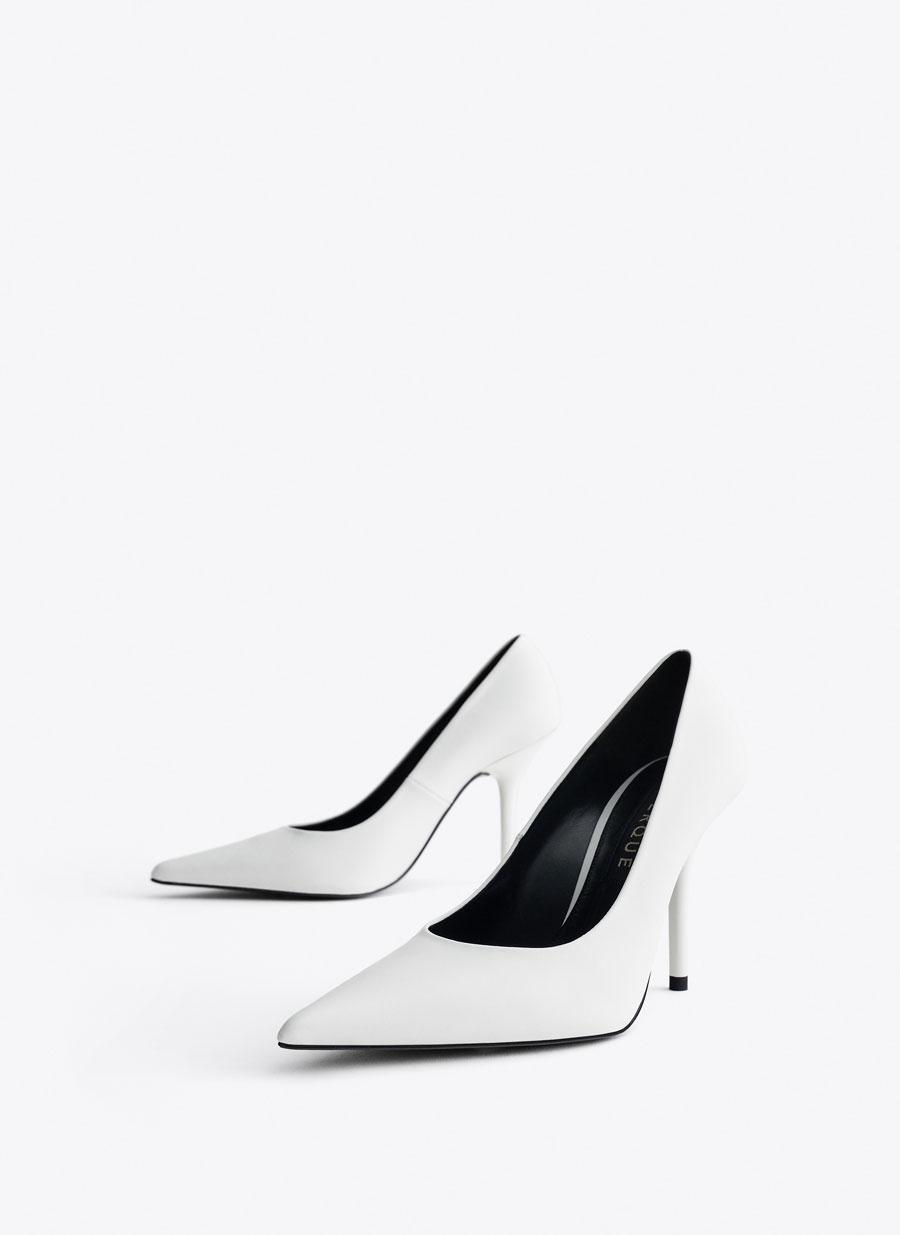 08a24b5900b Leather high heel court shoes - View all - Footwear - Uterqüe Malta