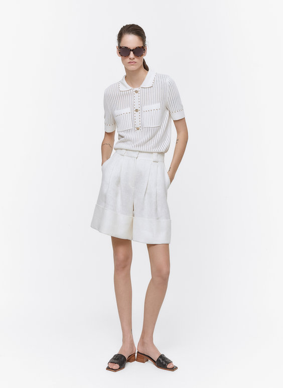 Linen Bermuda shorts