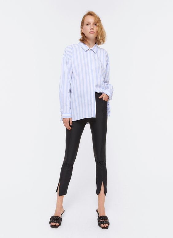Skinny trousers with slit detail