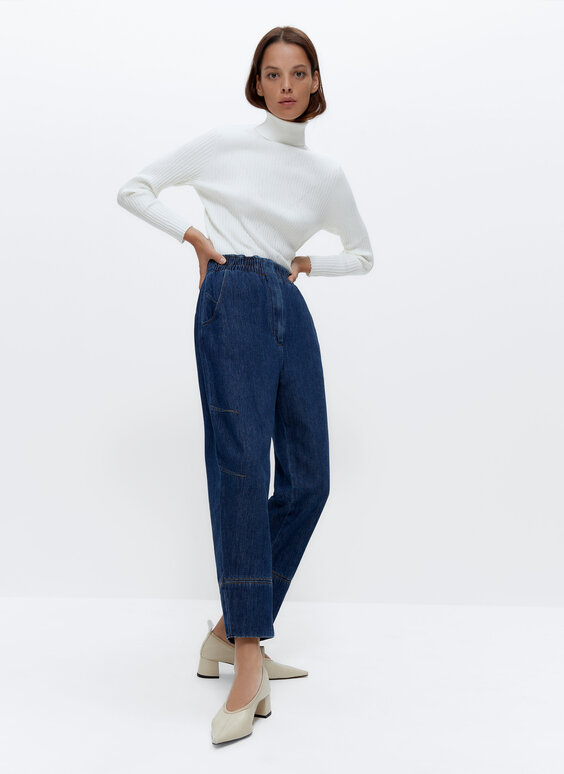 Baggy denim trousers