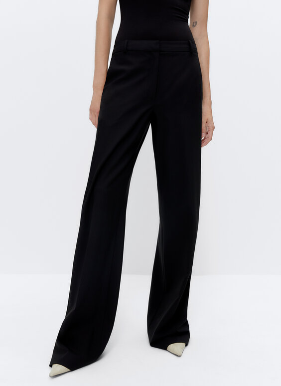 IN/OUT wool suit trousers