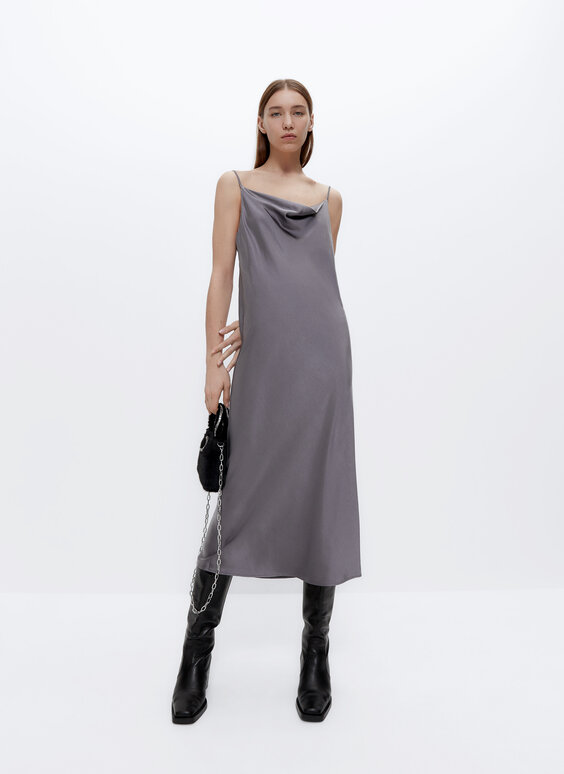 Grey camisole dress