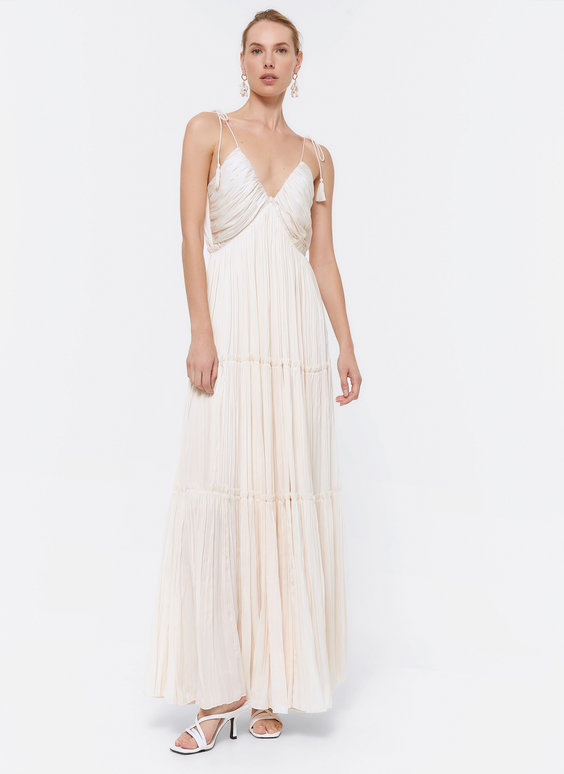 Ecru draped dress