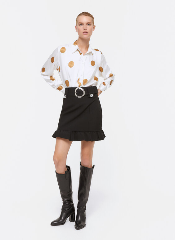 Polka dot print shirt