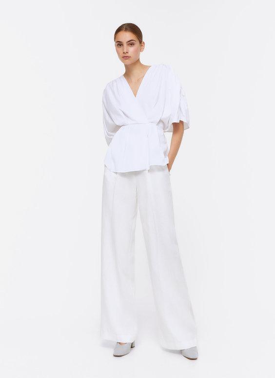 Popelinhemd im Kimonoschnitt