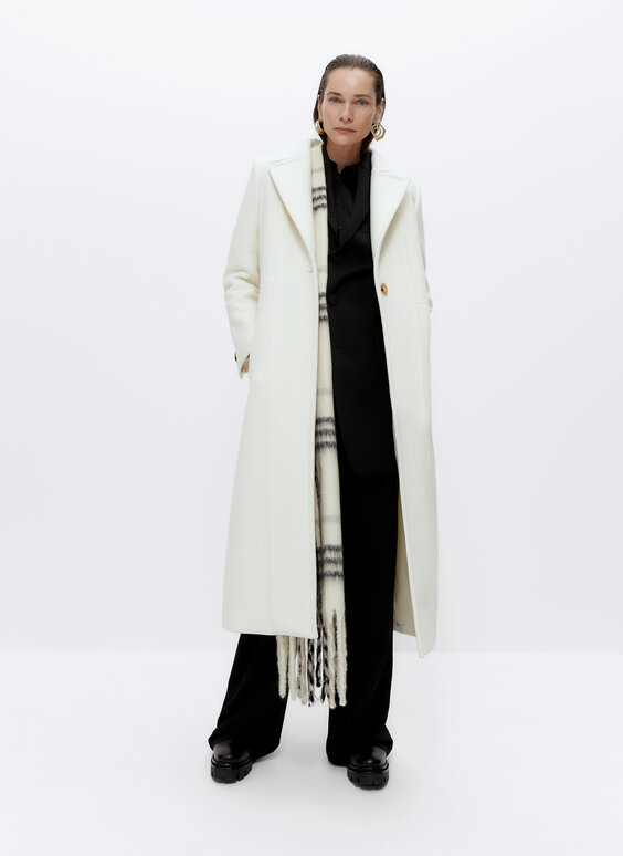 Manteau long laine