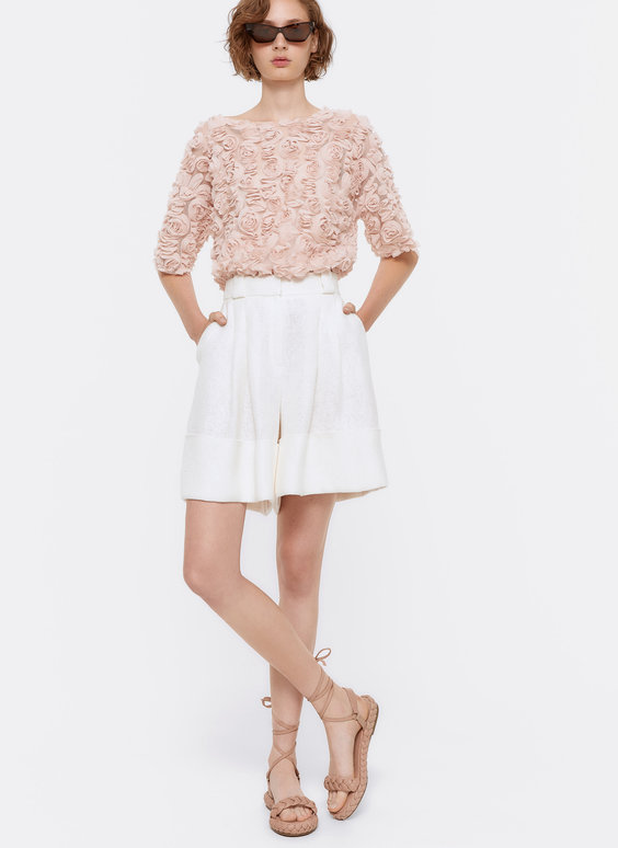 Tulle floral T-shirt