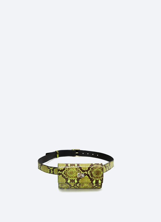Snakeskin-effect belt bag