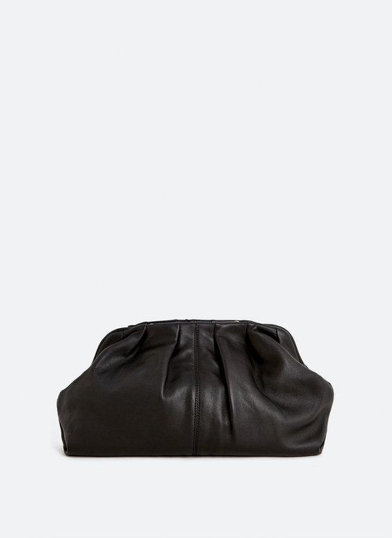 Кожаная сумка со сборкой