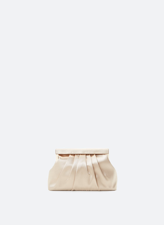 Evening bag with side tassels