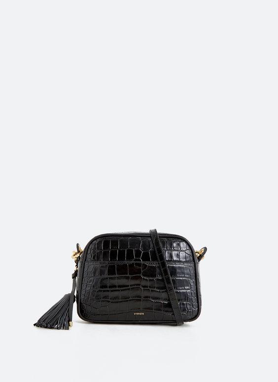 Большая сумка с плечевым ремнем и кистью