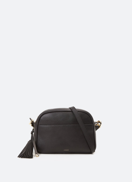 XL plain bag with tassel