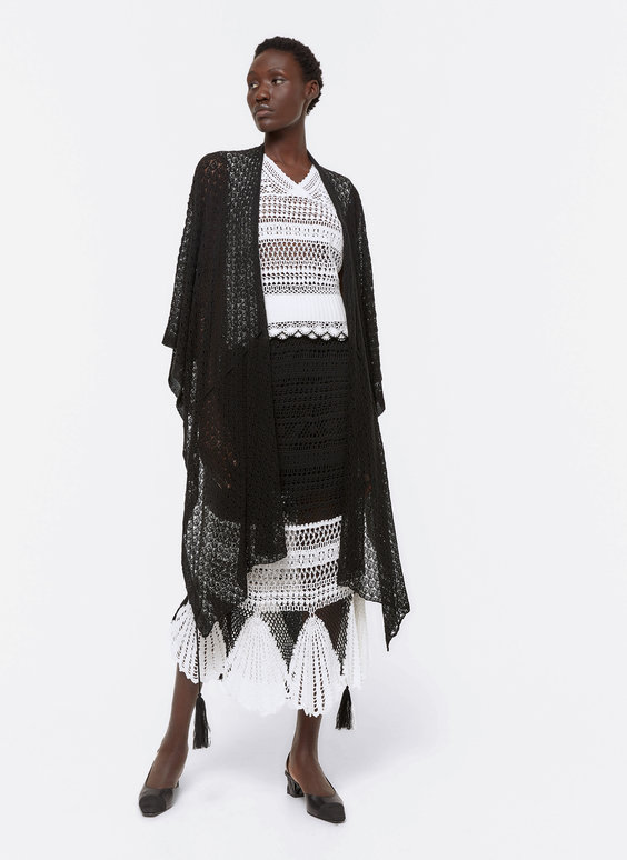 Crochet poncho