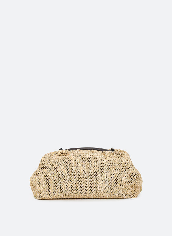 Two-tone clutch bag