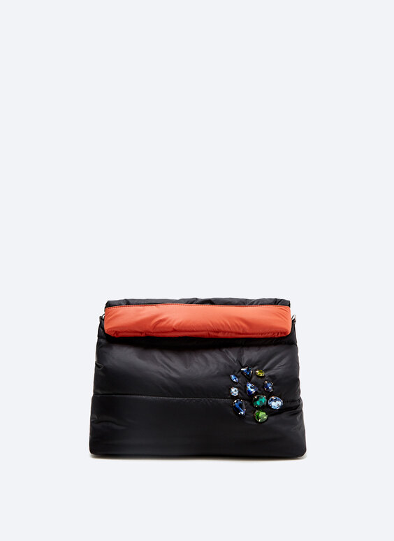 IN/OUT double-faced nylon clutch