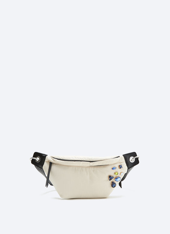 IN/OUT nylon diamanté belt bag
