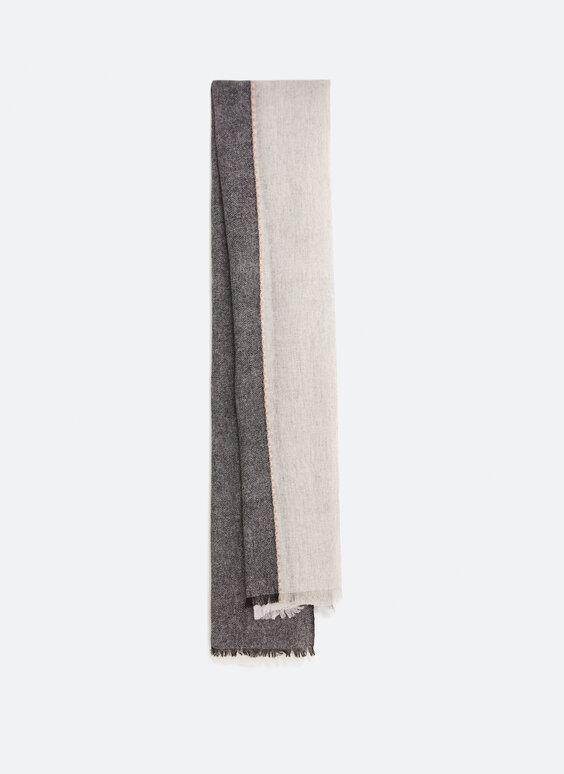 Three-tone wool scarf