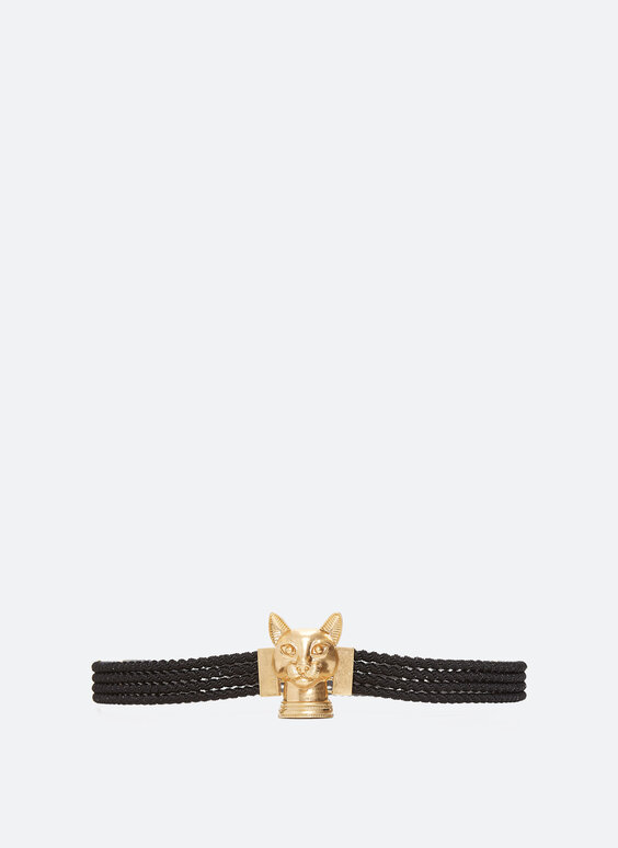 Stretch belt with cat buckle