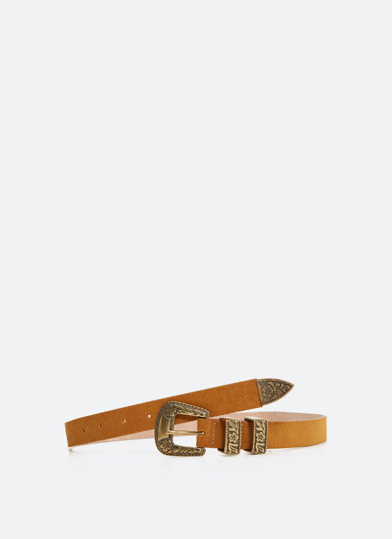 Split suede leather belt