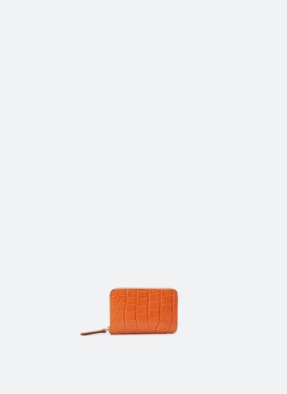Stredne veľká kožená peňaženka