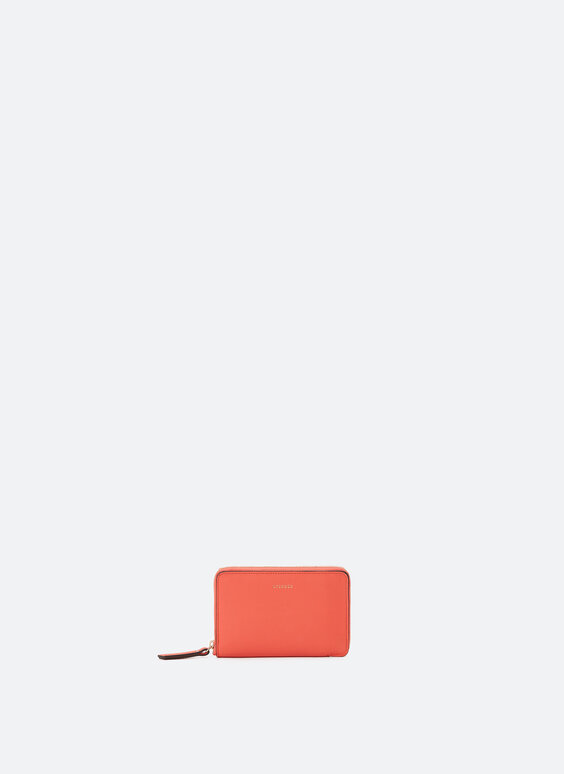 Plain leather clutch