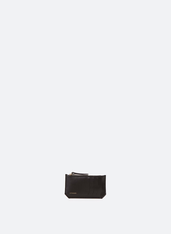 Kartentasche aus glattem Leder