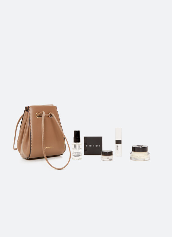 UTERQÜE X BOBBI BROWN leather bag