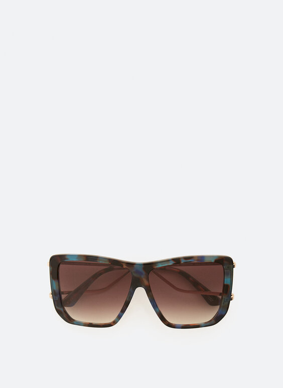 Square sunglasses with double arm