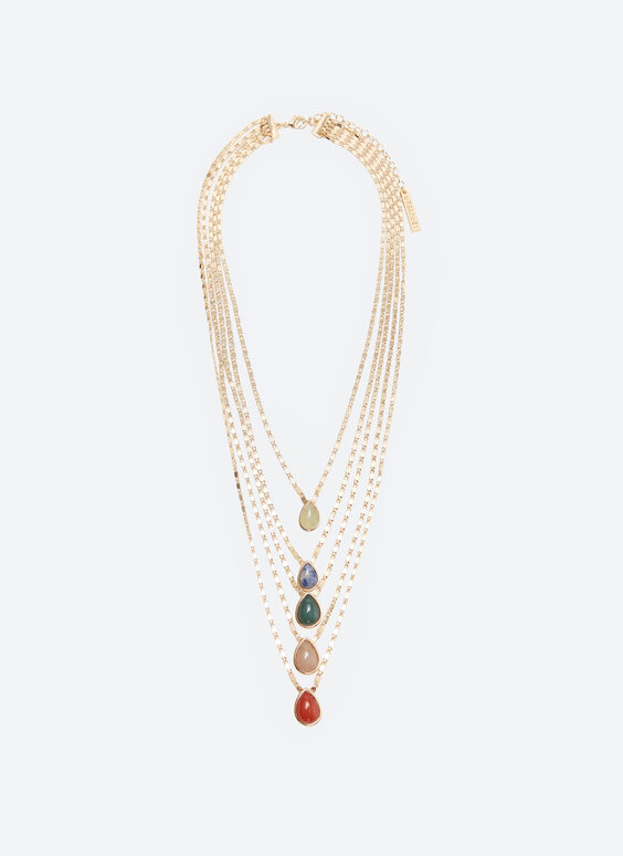 Multicoloured multi-strand necklace