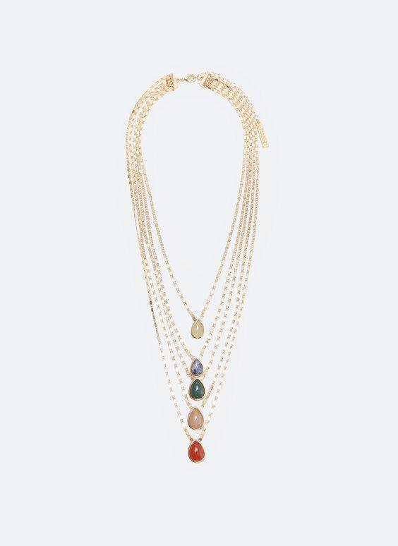 Разноцветное многоярусное ожерелье