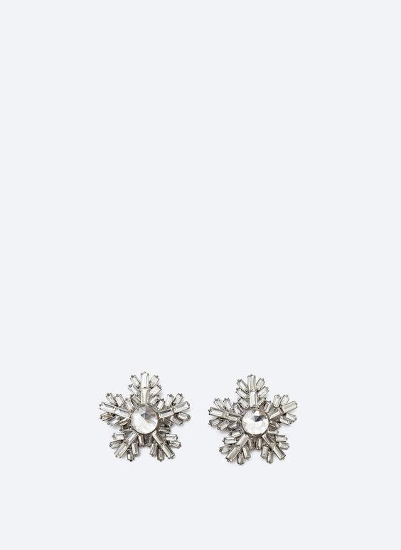Boucles d'oreilles flocon de neige