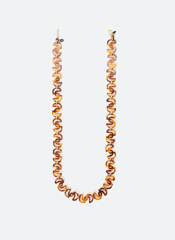Glasses neck chain in tortoiseshell logo