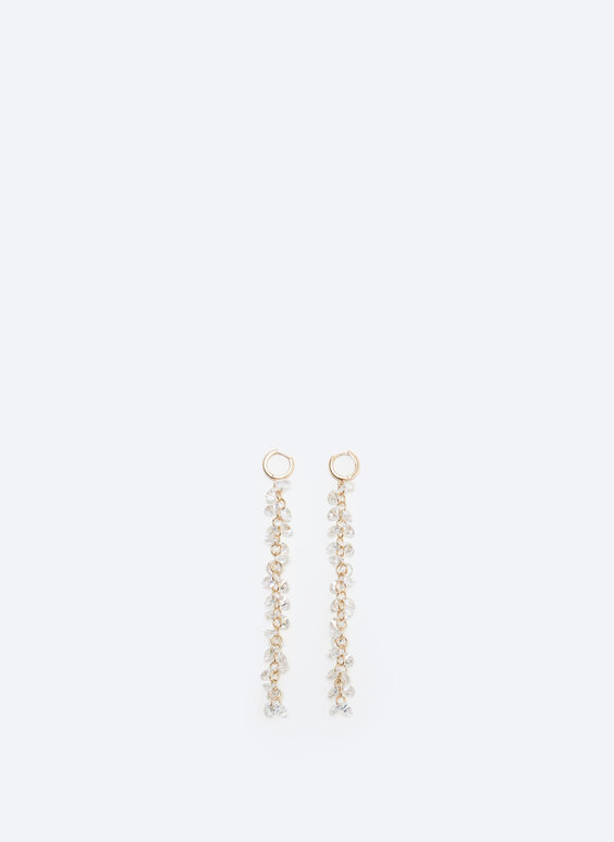 Diamanté strand earrings
