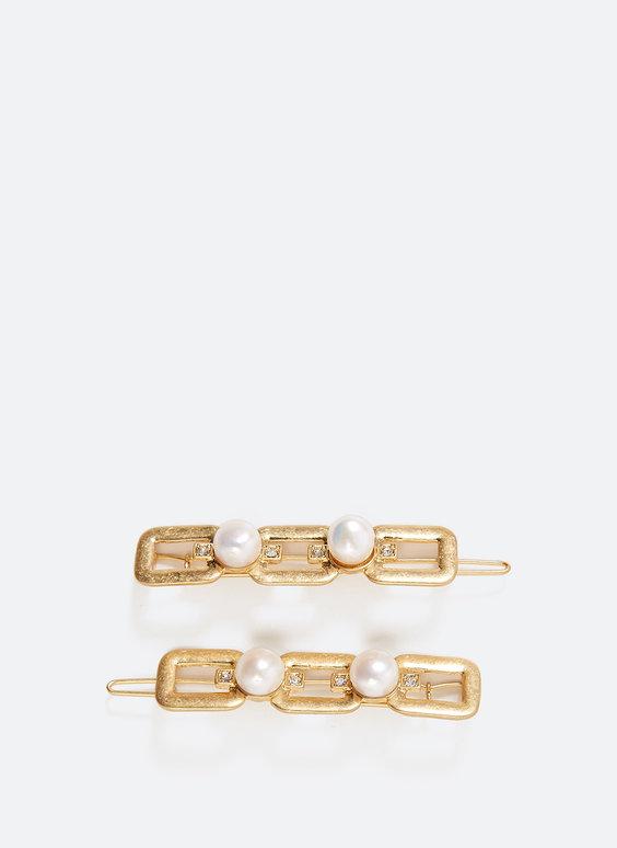 Pearl bead hairslides