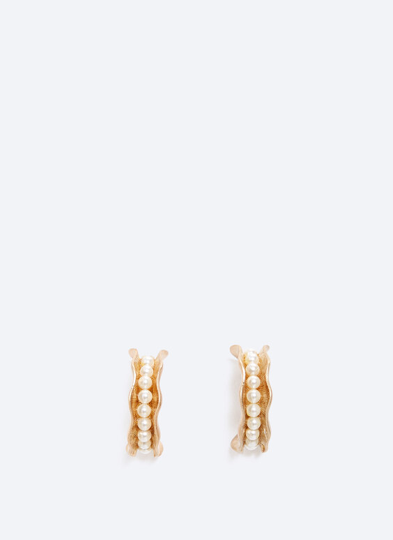 Irregular hoop earrings