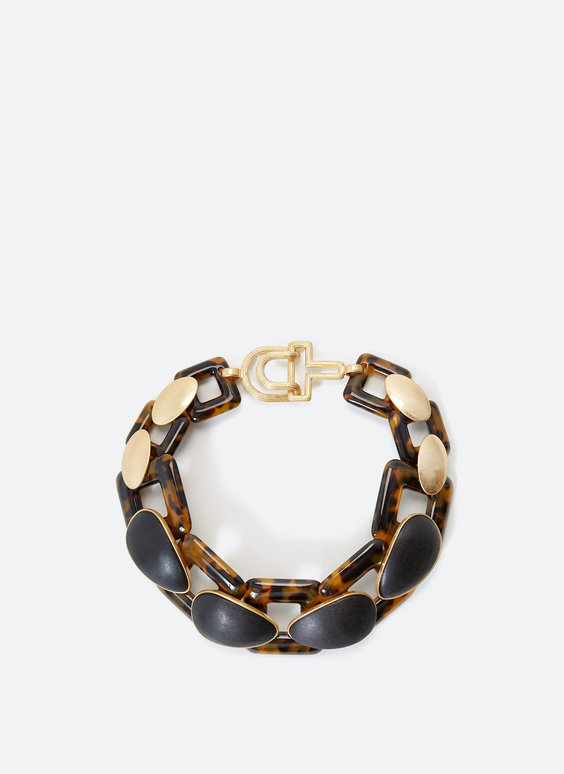 Tortoiseshell chain link necklace