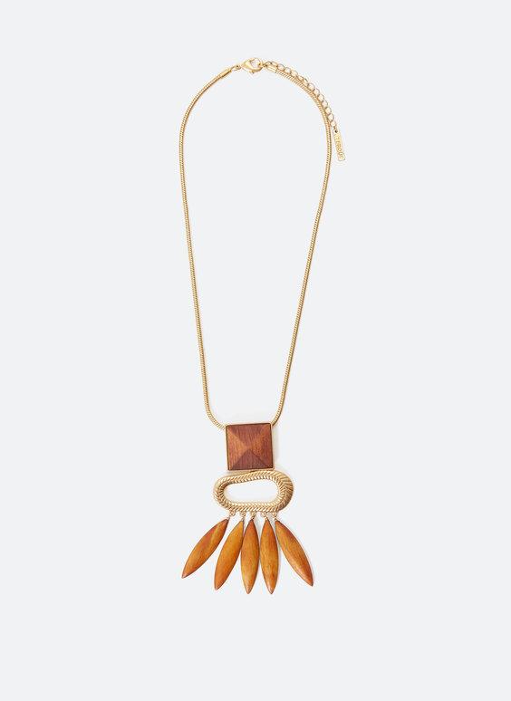 Ожерелье с деревянными подвесками