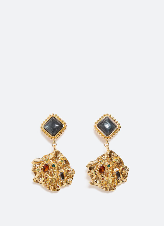 Coloured crystal earrings