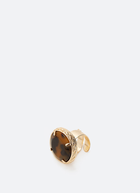 Adjustable tortoiseshell ring
