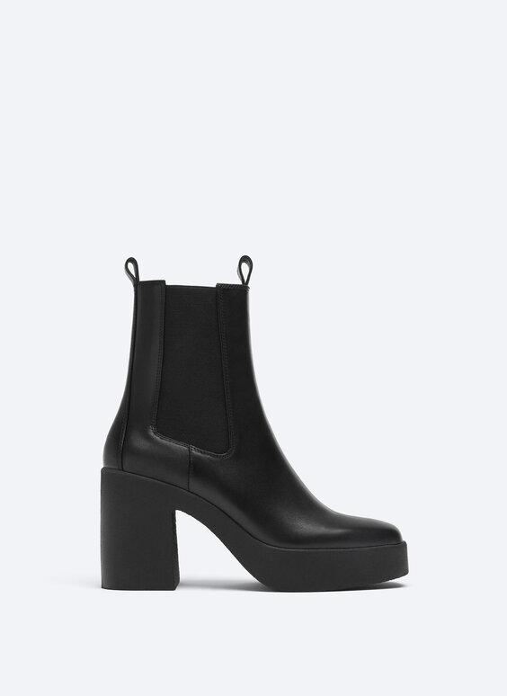 Bottines cuir plateforme