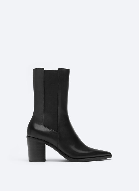 Bottines cuir talon