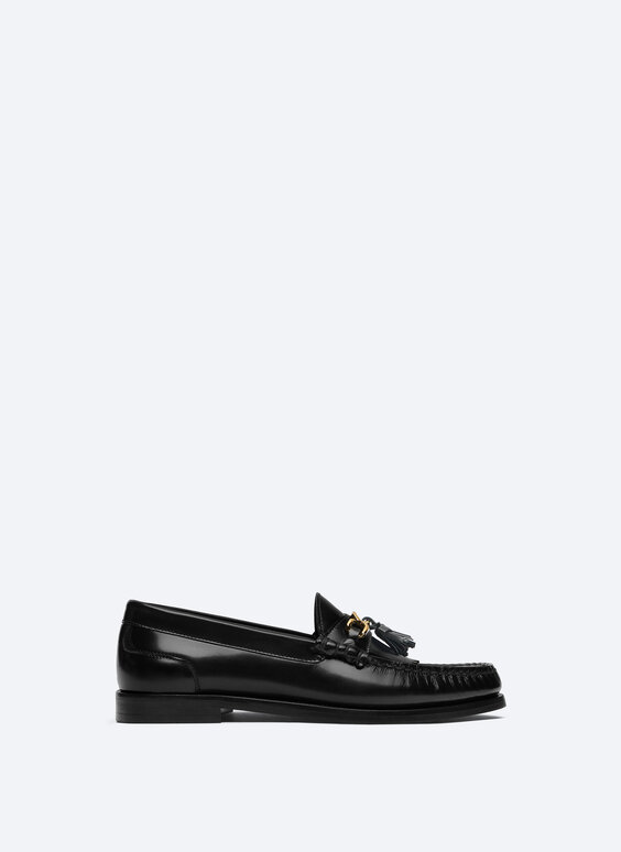 Leather tassel loafers