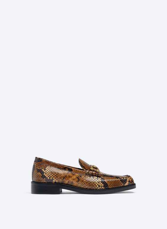 Leather loafers with print