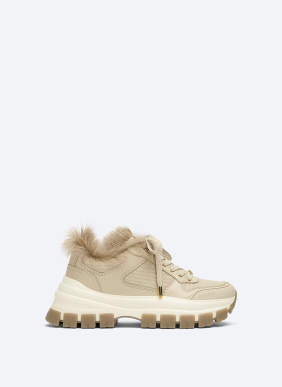Jednobarwne skórzane buty sportowe
