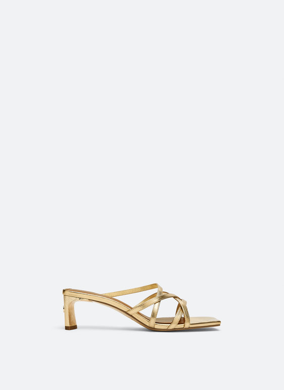 Gold strappy sandals