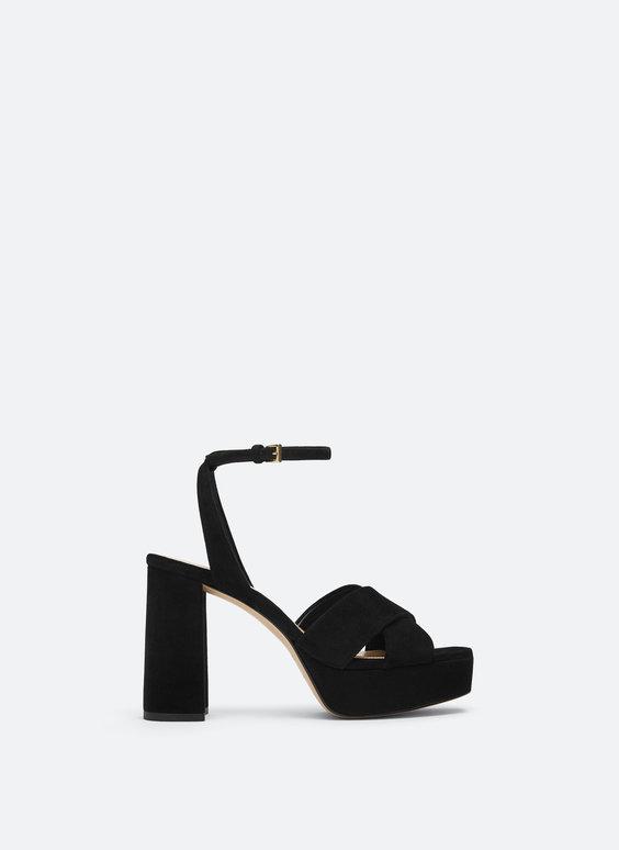 Semišové sandály na platformě