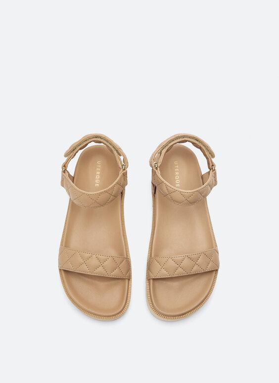 Sandalia piel plana