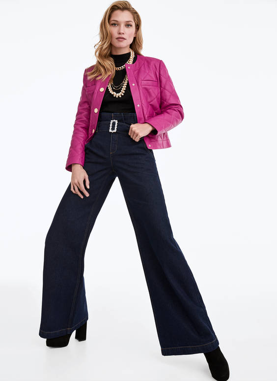 Široké džínové kalhoty