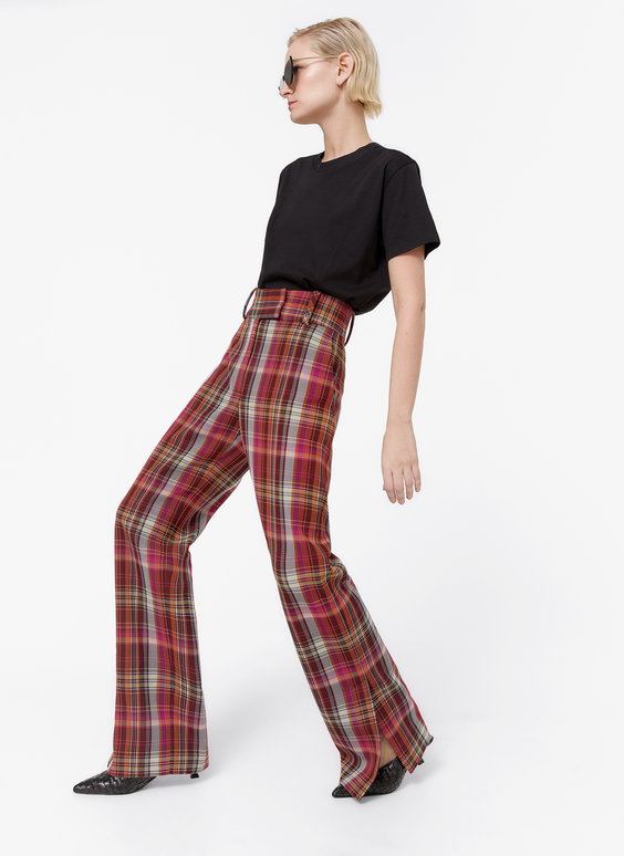 Pantalon carreaux multicolores