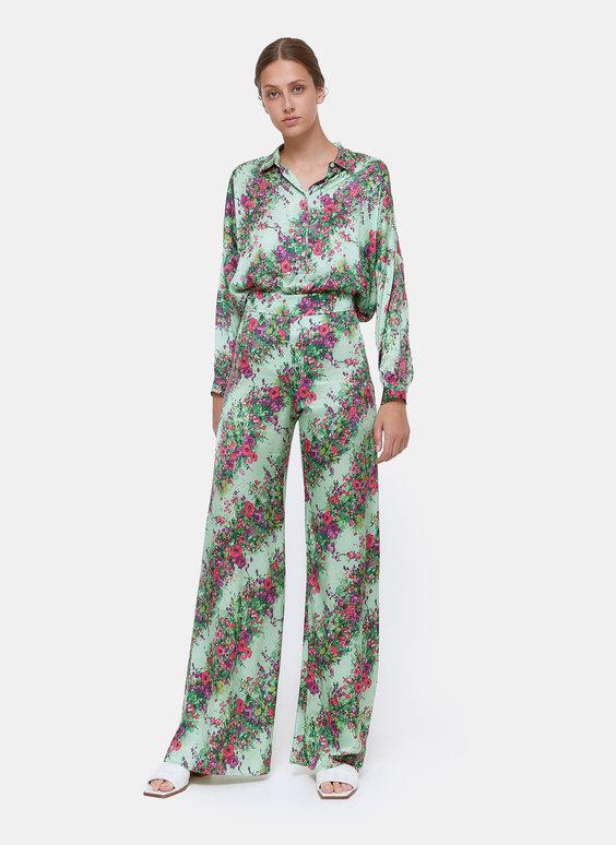Pantalón estampado flor